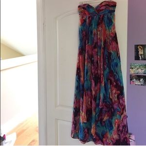 Strapless floor length dress, size 0
